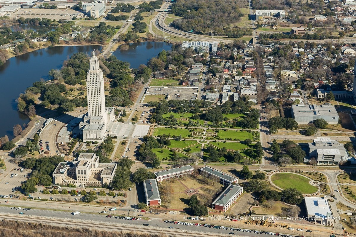 Aerial View of the Louisiana State Capital Building