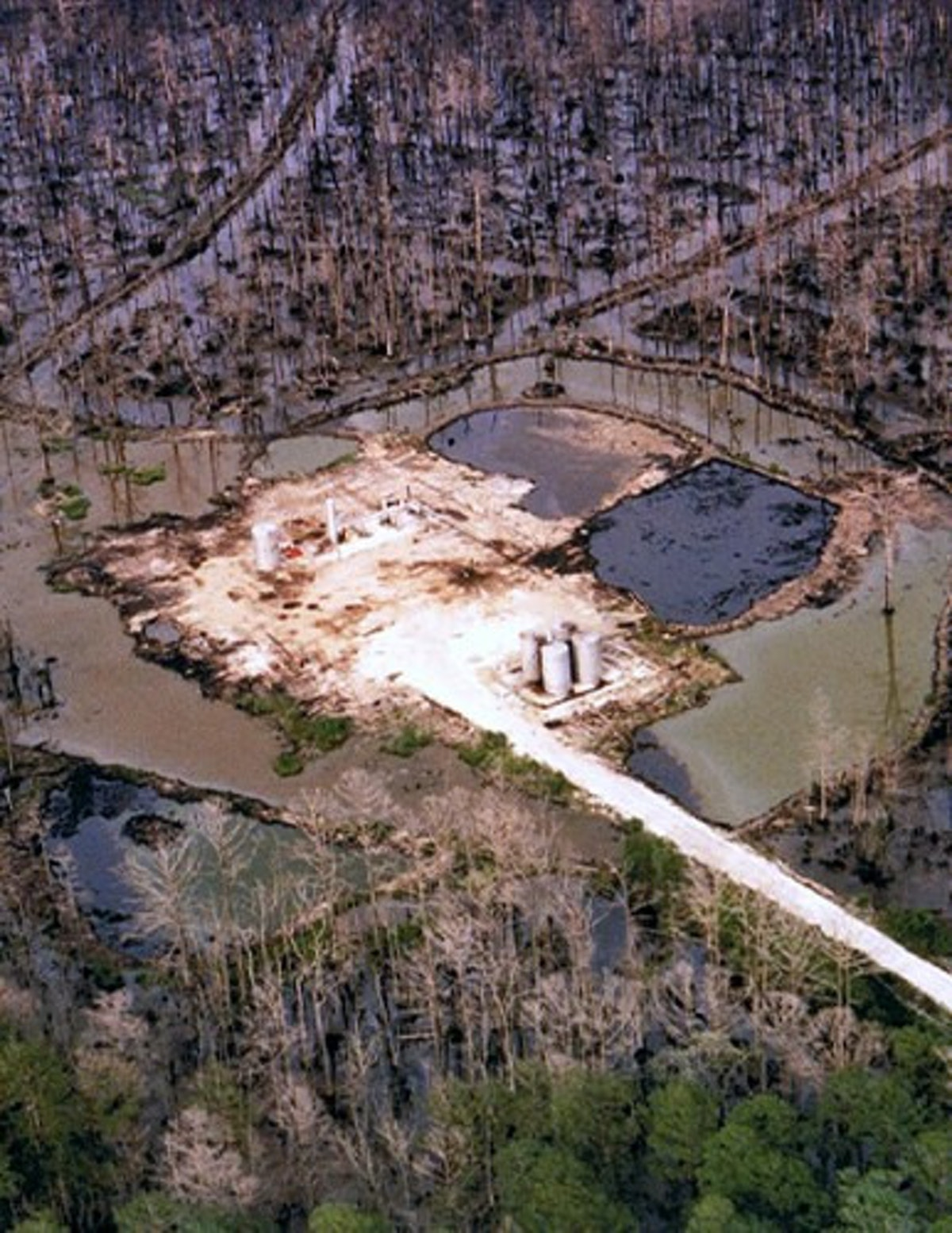 Contamination at an oilfield site